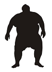 Sumo Wrestler Silhouette v4 Decal Sticker